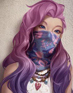 Seraphine com bandana da Akali