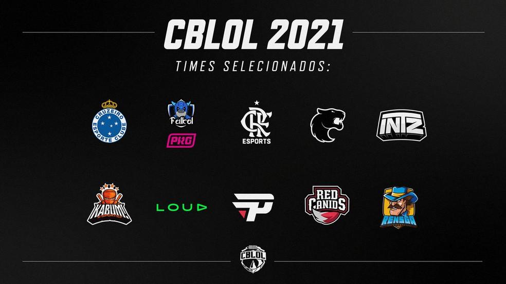 Tabela dos times selecionados para franquia CBLOL 2021