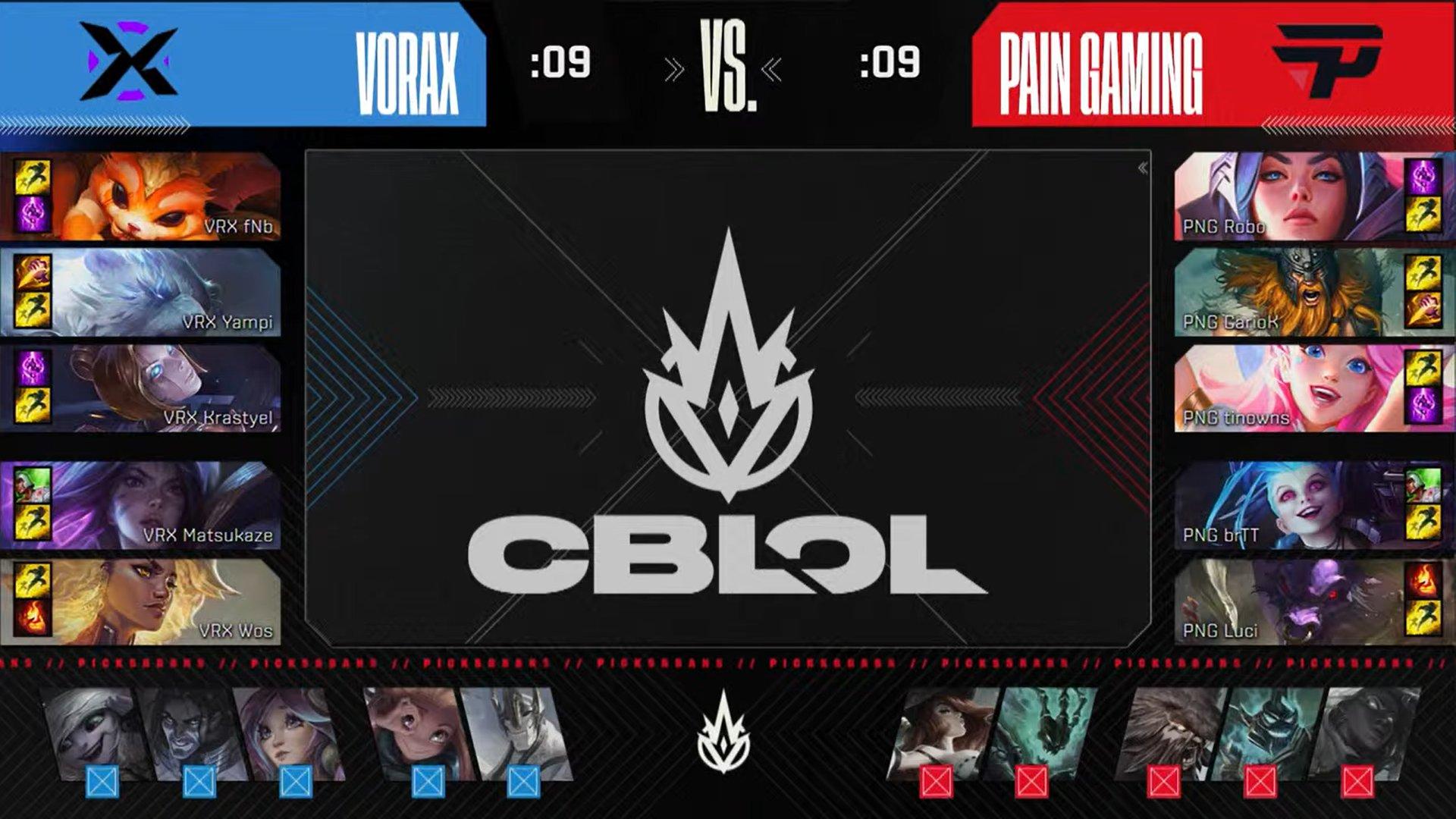 Picks e bands do jogo 3 da grande final do CBLOL 2021.