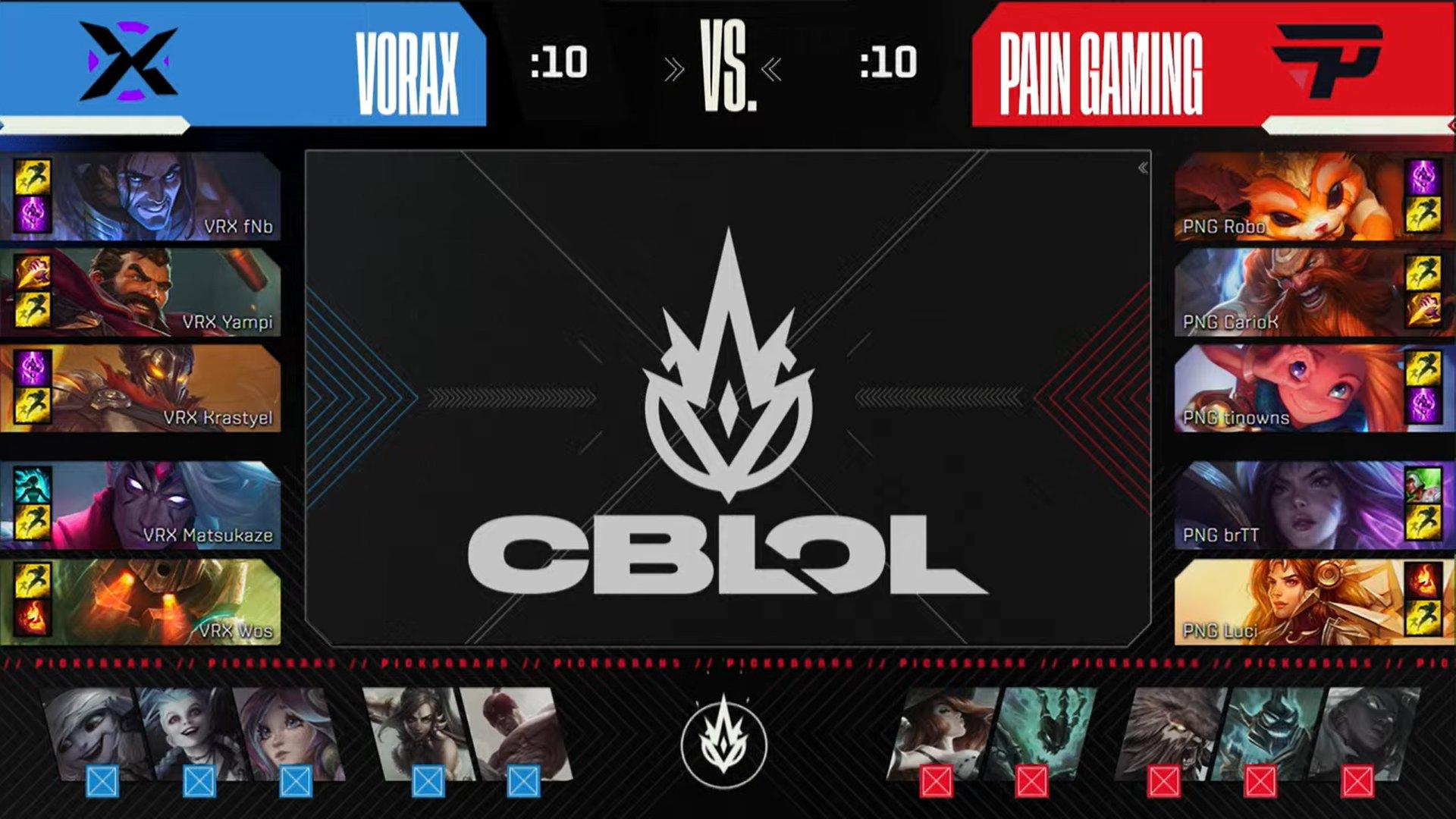 Draft do último jogo da final do CBLOL 2021