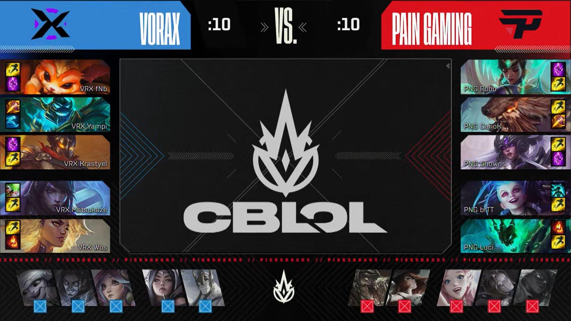 Picks e bans jogo 1 da final do CBLOL 2021.