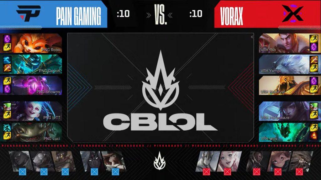 Picks e bans jogo 2 da final do CBLOL 2021.