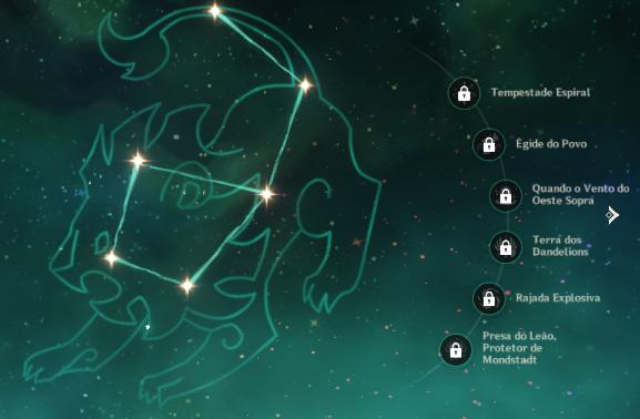 Constelação utilizada para Jean, Genshin Impact