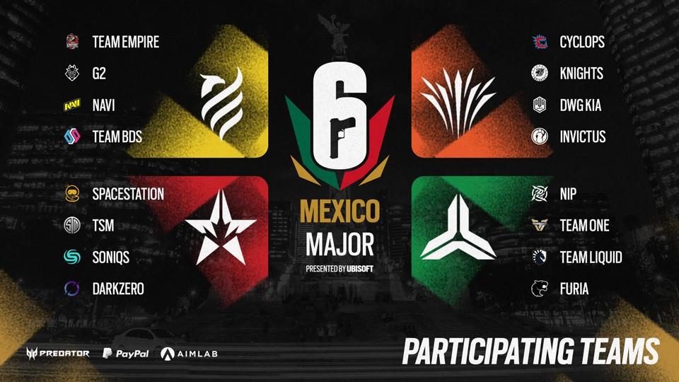 Fase de grupos do Major México de Rainbow Six